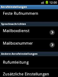 Samsung Galaxy Mini - Anrufe - Rufumleitungen setzen und löschen - 5 / 9