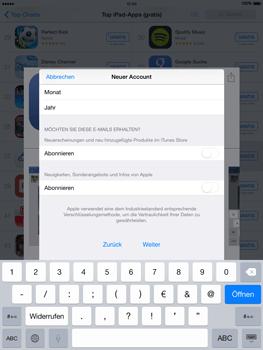 Apple iPad mini - iOS 8 - Apps - Einrichten des App Stores - Schritt 17
