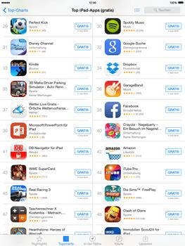 Apple iPad Air iOS 8 - Apps - Einrichten des App Stores - Schritt 5