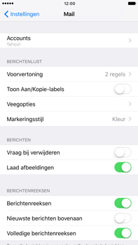 Apple Apple iPhone 6s Plus iOS 10 - E-mail - Handmatig instellen (yahoo) - Stap 9