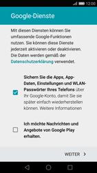 Huawei P8 - Apps - Konto anlegen und einrichten - Schritt 16