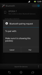 Sony Xperia T - Bluetooth - Connecting devices - Step 7