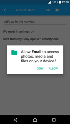 Sony Xperia Z5 (E6653) - Android Nougat - E-mail - Sending emails - Step 11