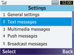 Samsung S3570 Chat 357 - SMS - Manual configuration - Step 5