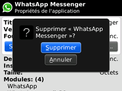 BlackBerry 8520 - Applications - Supprimer une application - Étape 7