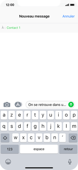 Apple iPhone X - Contact, Appels, SMS/MMS - Envoyer un MMS - Étape 9
