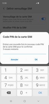 Samsung Galaxy S10 - Sécuriser votre mobile - Personnaliser le code PIN de votre carte SIM - Étape 10