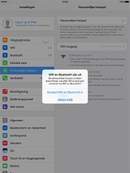 Apple iPad 9.7 (Model A1823) - WiFi - Mobiele hotspot instellen - Stap 7
