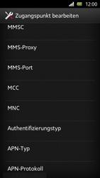 Sony Xperia U - Internet und Datenroaming - Manuelle Konfiguration - Schritt 12