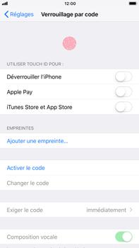 Apple iPhone 7 Plus - iOS 11 - Sécuriser votre mobile - Activer le code de verrouillage - Étape 4