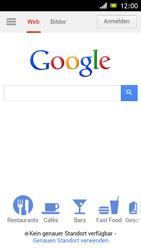 Sony Xperia J - Internet und Datenroaming - Verwenden des Internets - Schritt 7