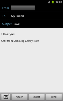 Samsung N7000 Galaxy Note - E-mail - Sending emails - Step 8