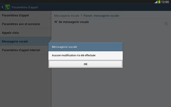 Samsung P5220 Galaxy Tab 3 10-1 LTE - Messagerie vocale - Configuration manuelle - Étape 10