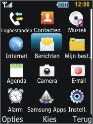 Samsung S5610 Primo - Voicemail - handmatig instellen - Stap 4