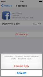 Apple iPhone 5s iOS 8 - Applicazioni - Come disinstallare un