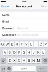 Apple iPhone 4S iOS 7 - E-mail - Manual configuration - Step 12