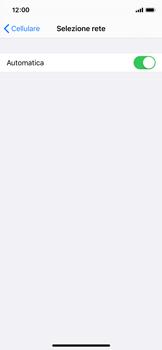 Apple iPhone X - iOS 13 - Rete - Selezione manuale della rete - Fase 5