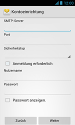 ZTE Blade III - E-Mail - Manuelle Konfiguration - Schritt 12
