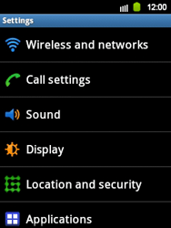 Samsung Galaxy Y - WiFi - WiFi configuration - Step 4