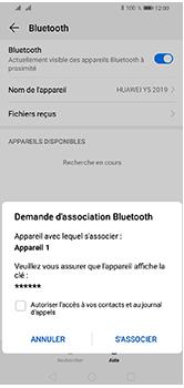 Huawei Y5 (2019) - Internet et connexion - Connexion avec un équipement multimédia via Bluetooth - Étape 8