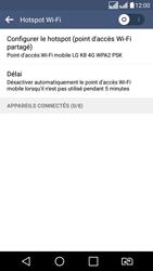 LG LG K8 - Internet et connexion - Partager votre connexion en Wi-Fi - Étape 10