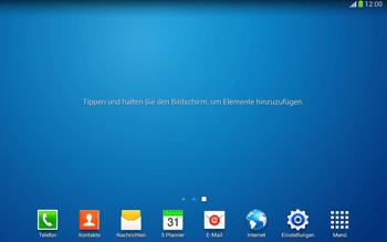 Samsung Galaxy Tab 3 10-1 LTE - Startanleitung - Installieren von Widgets und Apps auf der Startseite - Schritt 3