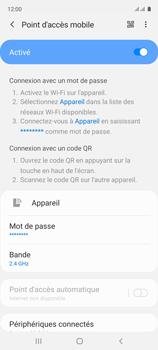 Samsung Galaxy A51 - Internet et connexion - Partager votre connexion en Wi-Fi - Étape 12