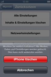 Apple iPhone 3GS - Gerät - Zurücksetzen auf die Werkseinstellungen - Schritt 7