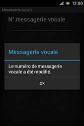 Sony C1505 Xperia E - Messagerie vocale - configuration manuelle - Étape 9