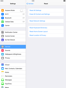 Apple iPad Air - Mobile phone - Resetting to factory settings - Step 6