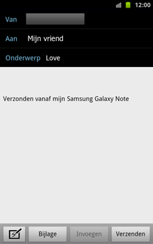 Samsung N7000 Galaxy Note - E-mail - e-mail versturen - Stap 6