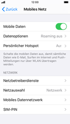 Apple iPhone SE - iOS 13 - Netzwerk - Manuelle Netzwerkwahl - Schritt 4