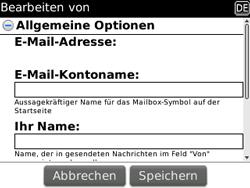 BlackBerry 8520 Curve - E-Mail - Konto einrichten - Schritt 15