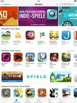 Apple iPad Air iOS 8 - Apps - Einrichten des App Stores - Schritt 3