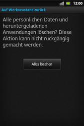 Sony Xperia Go - Fehlerbehebung - Handy zurücksetzen - 9 / 10