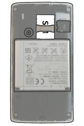 Sony Ericsson Xperia X8 - SIM-Karte - Einlegen - Schritt 5