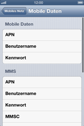 Apple iPhone 4S - Internet und Datenroaming - Manuelle Konfiguration - Schritt 7