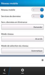 BlackBerry Z10 - Internet et roaming de données - Désactivation du roaming de données - Étape 6