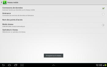 Samsung Galaxy Tab 2 10.1 - Réseau - Sélection manuelle du réseau - Étape 10