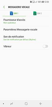 Samsung Galaxy A8 (2018) - Messagerie vocale - Configuration manuelle - Étape 8