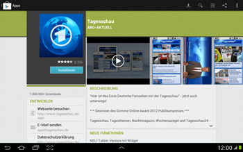Samsung Galaxy Note 10-1 - Apps - Herunterladen - 7 / 22