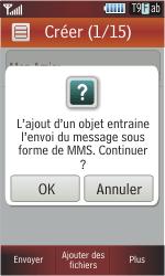 Samsung S5230 Star - MMS - Envoi d