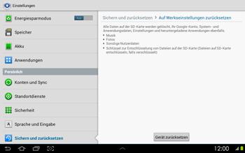 Samsung P5100 Galaxy Tab 2 10-1 - Fehlerbehebung - Handy zurücksetzen - Schritt 8