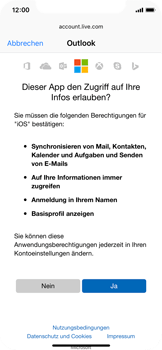 Apple iPhone X - E-Mail - Konto einrichten (outlook) - Schritt 8