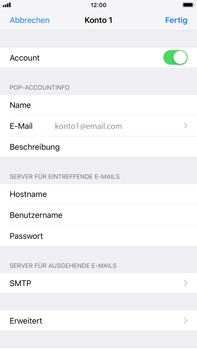 Apple iPhone 6 Plus - iOS 12 - E-Mail - Konto einrichten - Schritt 21
