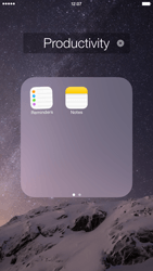 Apple iPhone 6 Plus - iOS 8 - Getting started - Personalising your Start screen - Step 5