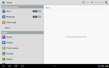 Samsung Galaxy Tab 2 10.1 - WiFi - WiFi configuration - Step 4