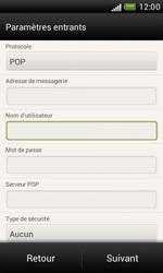 HTC Desire X - E-mail - Configuration manuelle - Étape 8