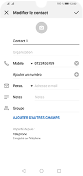 Huawei Y5 (2019) - Contact, Appels, SMS/MMS - Ajouter un contact - Étape 9