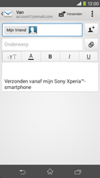 Sony D2303 Xperia M2 - E-mail - Bericht met attachment versturen - Stap 8
